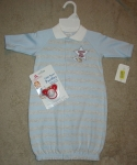Starting out newborn gown with pacifier